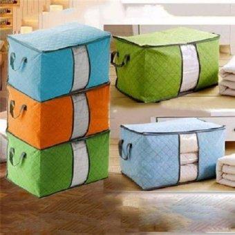 Bộ 2 Túi vải đựng chăn màn quần áo tiện dụng (Xanh lá)