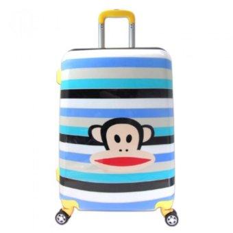 Vali kéo du lịch nhựa hình siêu nhẹ Monkey cute size trung 6 tấc TA0069