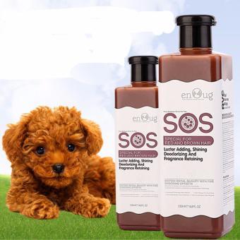 Sữa tắm Sos cho chó mèo lông màu tối 530ml (Nâu đỏ)