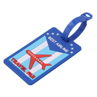 LALANG Silicone Luggage Tag Travel Baggage Bag Tag Cartoon Airplane