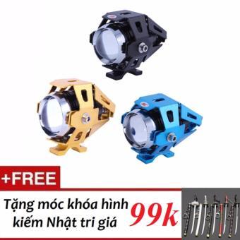Đèn Led trợ sáng U7 Transformers cao cấp dành cho moto xe máy + tặng kèm móc khóa hình kiếm Nhật