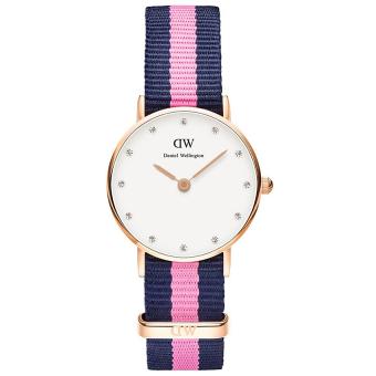 Đồng hồ nữ dây vải Daniel Wellington 0906DW (Hồng xanh)
