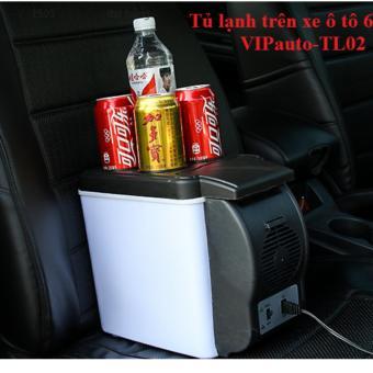 Tủ lạnh mini tiện ích trên ô tô 6.5L (Trắng đen)