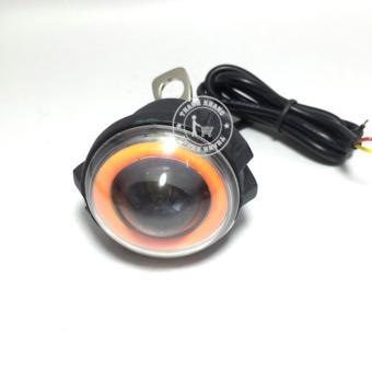 Đèn Fa led Thanh Khang trợ sáng UFO 3 chức năng Fa cos passing có vòng anglel đỏ cho xe máy