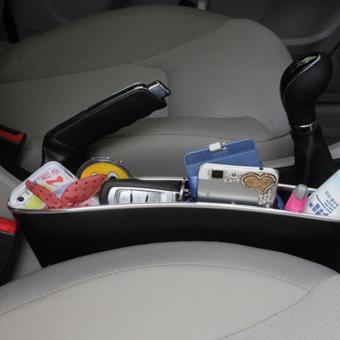 Bộ 2 Khay để đồ khe ghế ô tô I-POP (Đen)