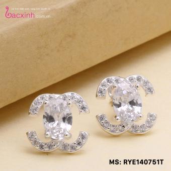 Bông tai nữ trang sức bạc Ý S925 Bạc Xinh RYE140751