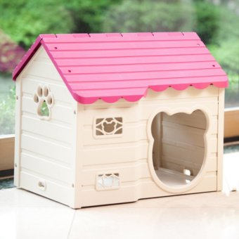 Nhà Ở Cho Chó Purmi màu hồng
