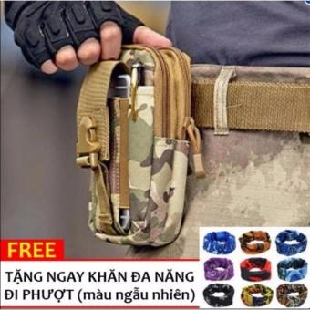 Túi đeo hông, thắt lưng đa năng + Tặng khăn phượt cao cấp H03-Lính