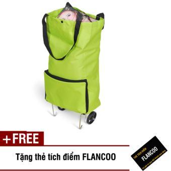 Túi xách có bánh xe kéo Flancoo 2661 (Xanh lá) + Tặng thẻ tích điểm Flancoo