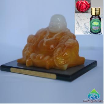Tượng Phật Bình An Trên Xe Hơi, Ô Tô Và Nước Hoa Hồng Mát Nhẹ 10ml 152-330