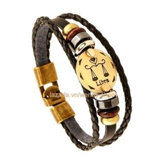 Vòng đeo tay Nam hình 12 chòm sao hoàng đạo cung Libra - Thiên Bình - VĐT09