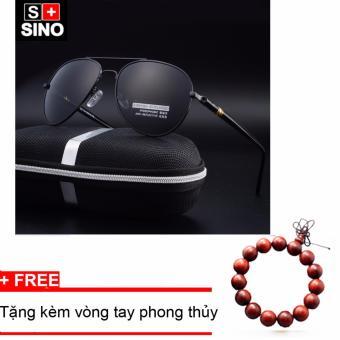 Kính mát nam thời trang cao cấp SINO SN686+ Tặng kèm vòng tay phong thủy
