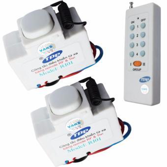 Bộ 02 công tắc điều khiển từ xa IR-RF TPE RI01+ 01 Remote 8 nút