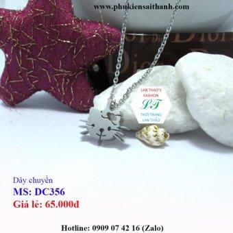 Dây chuyền Inox Nữ chú mèo siêu xinh DC356 (TRẮNG)
