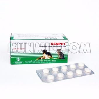 Thuốc tẩy giun Sanpet-3 viên
