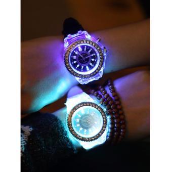 Đồng hồ cặp dây nhựa phát sáng