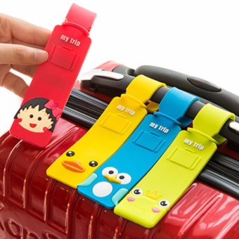Bộ 4 Thẻ Đeo hành lý , Vali Xinh Xắn