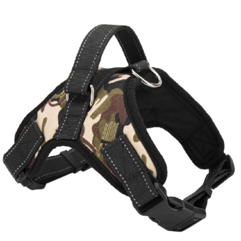 Pet Dog Soft Adjustable Harness Pet Walk Out Hand Strap Vest Collar (Camouflage) - Intl