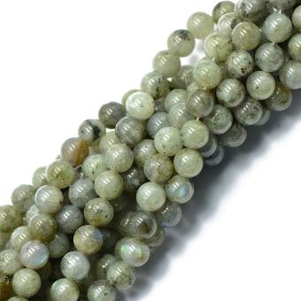 8mm Natural Labradorite Round Gemstone Loose Beads 15inch - Intl