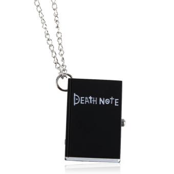 Chic Death Note Classic Fashion Quartz Pocket Watch Pendant Necklace (Black) (Intl)