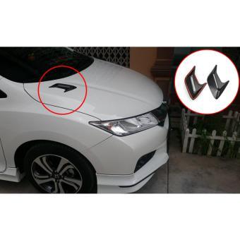 Giả độ hốc gió lưới siêu thực trên nắp capo xe hơi