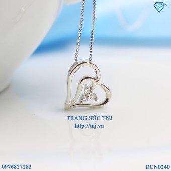 Dây chuyền bạc nữ mặt trái tim đẹp DCN0240 - Trang Sức TNJ