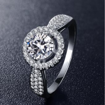 Nhẫn bạc nữ đính đá thời trang MTR05