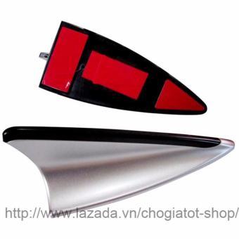 Ăng ten vây cá trang trí và hỗ trợ thu bắt sóng trên ô tô (Màu bạc)