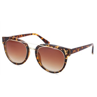 Retro Ladies Round Frame Gradient Sunglasses(NO.5) - intl