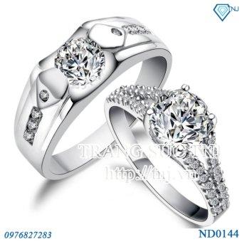 nhẫn đôi nhẫn cặp bạc đẹp ND0144