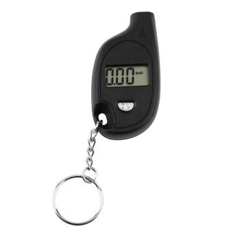 OH Portable Mini LCD Digital Tire Tyre Air Pressure Gauge Tester Keychain Designs Black - intl
