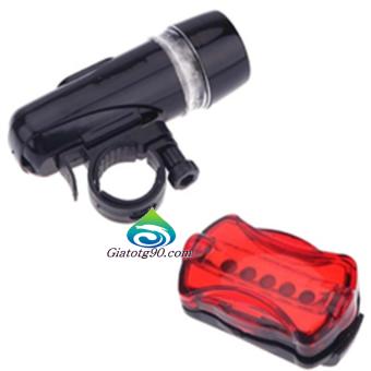 Bộ Đèn Pin Gắn Xe Đạp Và Đèn Chiếu Hậu 5 Led + Tặng 2 Đèn Led Gắn Van Bánh Xe 206211-1