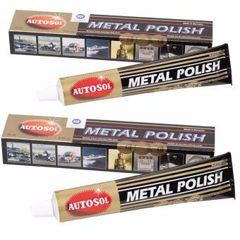 Bộ 2 tuýp kem đánh bóng kim loại Autosol Metal Polish 75ml