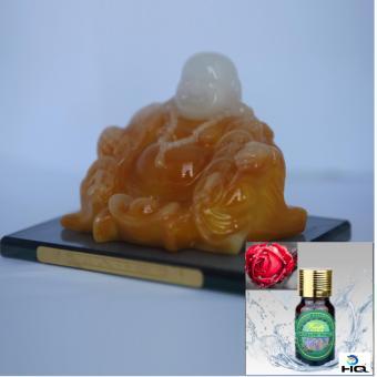 Tượng Phật Bình An Trên Xe Hơi, Ô Tô Và Nước Hoa Hồng Mát Nhẹ 10ml HQ152TI330