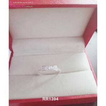 Nhẫn nữ trang sức bạc Ý S925 Bạc Xinh - Nơ đẹp RR1394(size9)