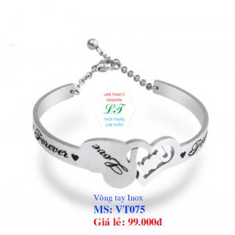 Vòng tay Inox nữ trái tim VT075 (Trắng)