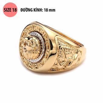 Nhẫn nam thời trang Sư tử 3D mạ vàng 18k