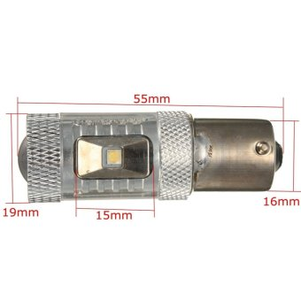 New Universal 30W 650LM CREE White 1156 BA15S P21W Car LED Backup Reverse Light - Intl