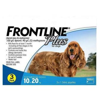 Thuốc trị ve rận, bọ chét FRONTLINE PLUS FOR DOG (10-20KG) tuýp lẻ