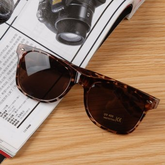 Cyber Women Vintage Style Retro Cool Outdoors Oval Sunglasses PC Frame AC Lens ( Coffee )