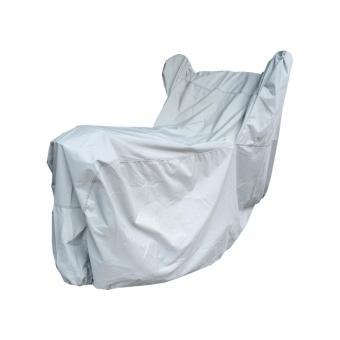 Áo trùm bảo vệ xe máy có tai ( màu xám nhạt)