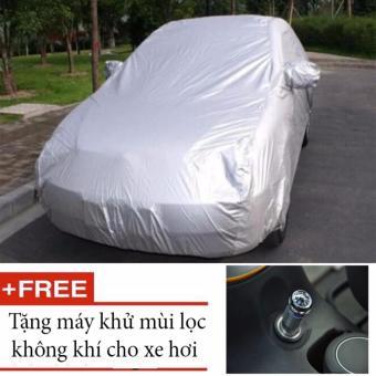 Bạt Che Phủ Ô TÔ Chống Ẩm 100% Princess Cho Mọi Dòng Xe 4 Chỗ (Bạc) tặng kèm máy lọc không khí khử mùi cho ô tô