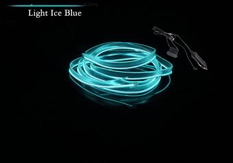 Đèn led xe hơi ô tô trang trí nội thất có jack mồi thuốc dài 5m (xanh)