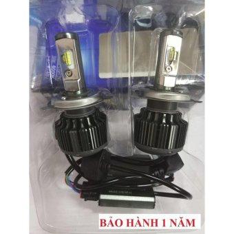 Bộ 2 bóng đèn led ô tô Hv shop turbo T6-H4 6000k (40W) LUMILERS siêu sáng