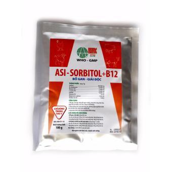 Bột pha thức ăn, nước uống bổ gan, giải độc Asi-SORBITOL+B12 (100 gram)