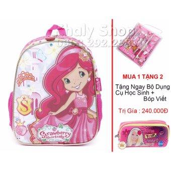 Balo học sinh trẻ em Strawberry siêu nhẹ cho bé gái ( BLBD12H )