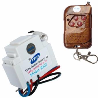 Bộ 1 công tắc điều khiển từ xa IR-RF TPE RI02+ 01 Remote 4 nút - lắp mặt panasonic