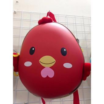 Balo trứng hình con gà cho bé màu đỏ siêu kute