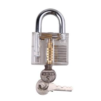 Pick Cutaway Inside View Padlock Lock For Locksmith Practice Training Skill - INTL