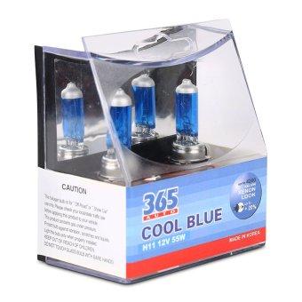 Bộ 2 bóng đèn ô tô 365-Auto H11 Coolblue 12V (Xanh )